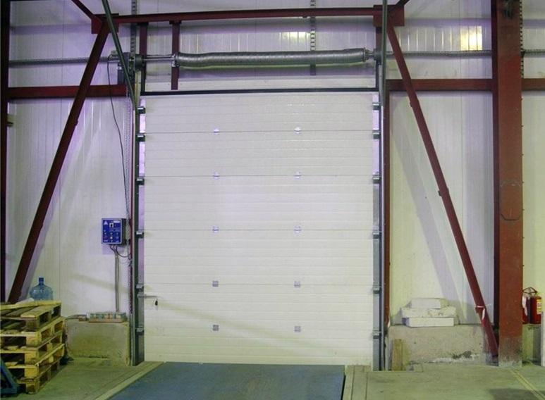 Поднимающиеся секционные ворота
