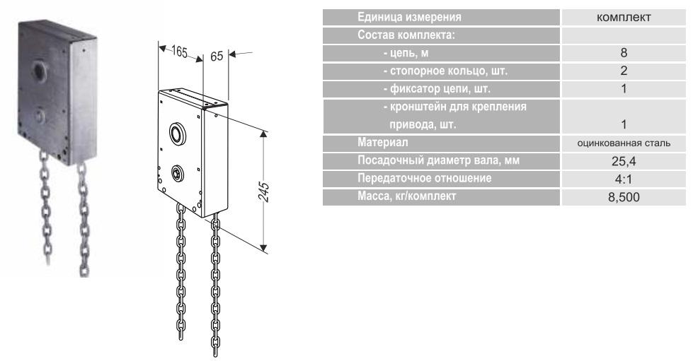 Ручной цепной привод для ворот