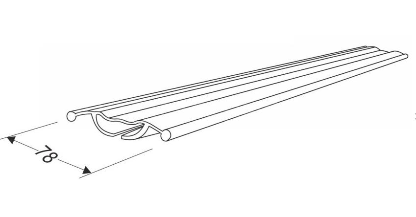 Резинка для секционных ворот