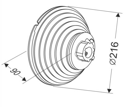 Барабан для секционных ворот 11 VL (М-216/3315) Артикул: 11009