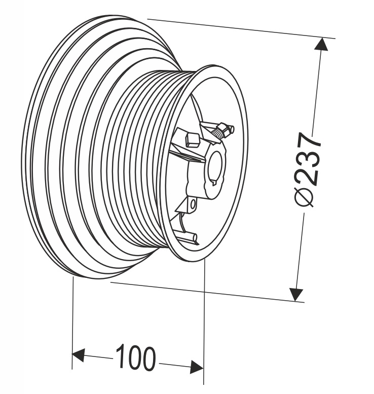 Барабан для секционных ворот 120 HL (М-146/3178/6675) Артикул: 11007