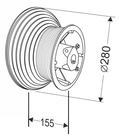 Барабан для секционных ворот 164 HL (М-164/4360/9760) Артикул: 11008