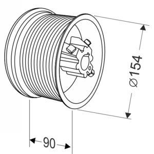 Барабан для секционных ворот 18 (М-134/5325) Артикул: 11002