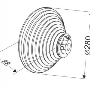 Барабан для секционных ворот 18 VL (М-280/5520) Артикул: 11010