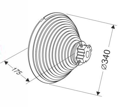 Барабан для секционных ворот 28 VL (М-340/8315) Артикул: 11012
