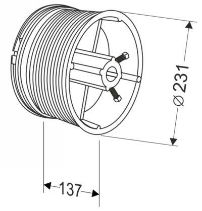 Барабан для секционных ворот 32 (М-203/9750) Артикул: 11003