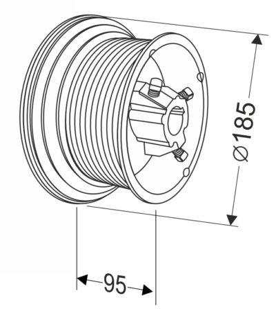 Барабан для секционных ворот 54 HL (М-134/1260/5910) Артикул: 11006