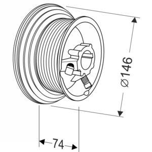 Барабан для секционных ворот 54 HL (М-102/1370/4620) Артикул: 11005