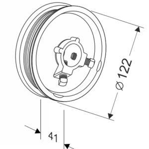 Барабан для секционных ворот 8 (М-102/2425) Артикул: 11000