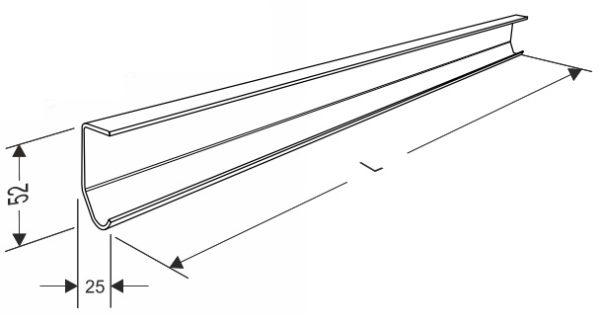 Направляющая вертикальная для секционных ворот