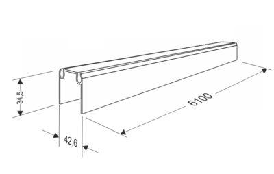 Профиль верхний и нижний для панелей секционных ворот