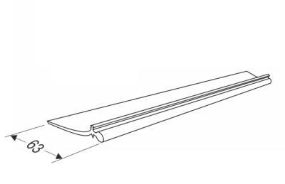 Верхний уплотнитель секционных ворот