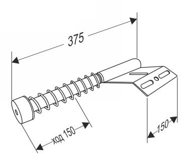 Амортизатор для секционных ворот (укороченный)