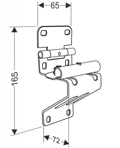 Боковая опора с держателем ролика облегченная