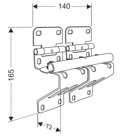 Боковая опора усиленная с удлиненным держателем ролика