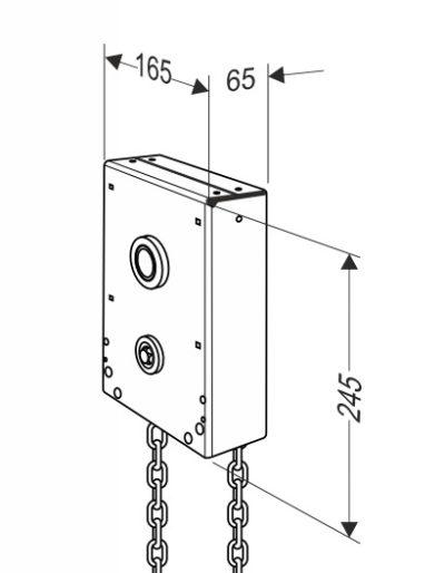 Ручной цепной привод редуктор для секционных ворот