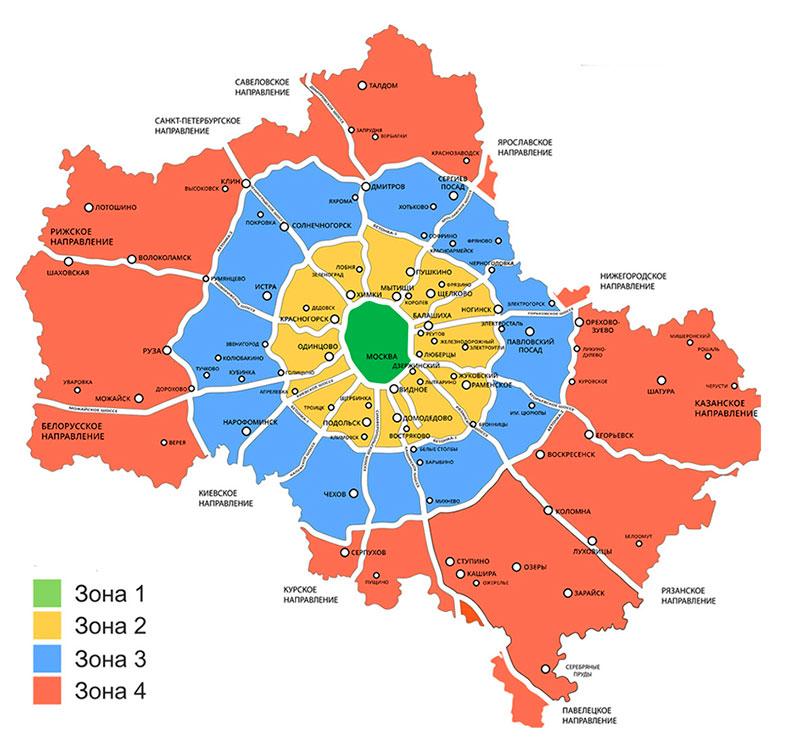 Карта доставки секционных ворот