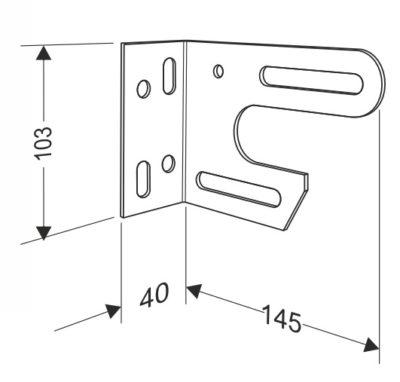 Кронштейн концевой внутренний универсальный MINI для секционных ворот