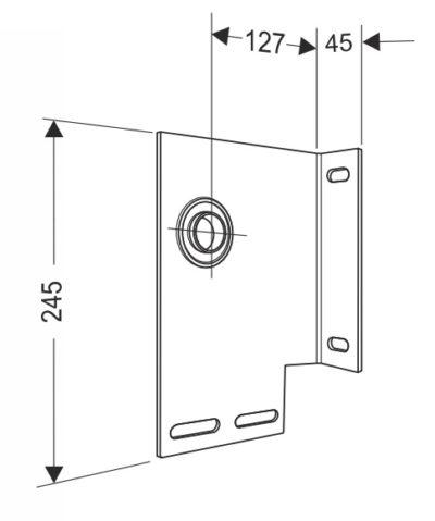 Кронштейн опорный концевой 127 мм. для секционных ворот