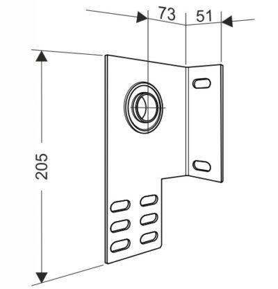 Кронштейн опорный концевой 73 мм. для секционных ворот