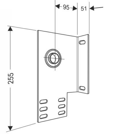 Кронштейн опорный концевой 95 мм. для секционных ворот