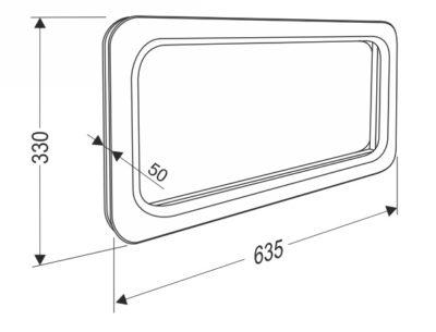 Окно для секционных ворот 635*330