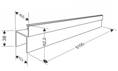 Профиль для калитки секционных ворот