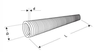 Пружина для секционных ворот торсионная 152 мм.