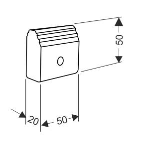 Резиновый стопор для секционных ворот