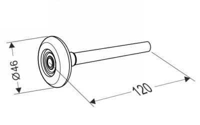 Ролик для секционных ворот 120 мм.