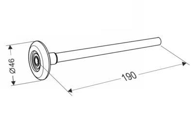 Ролик для секционных ворот 190 мм.