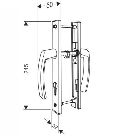 Ручка для калитки секционных ворот