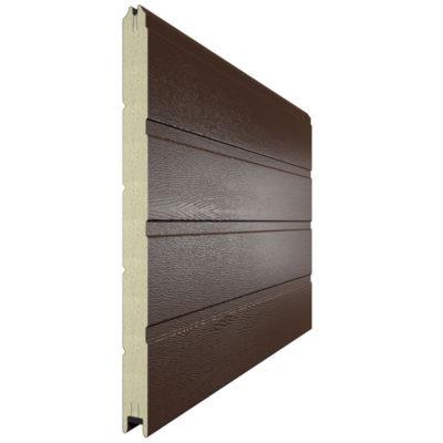 Панель для секционных ворот 610 мм. Цвет коричневый 8014