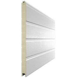 Панель для секционных ворот 610 мм. Цвет 9010 белый