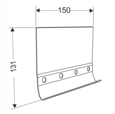 Соединительная пластина для направляющих 130 мм.