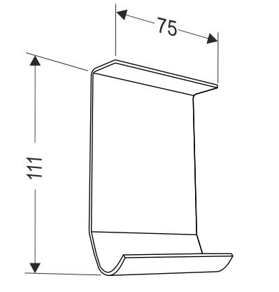 Соединительная пластина для сдвоенных направляющих секционных ворот