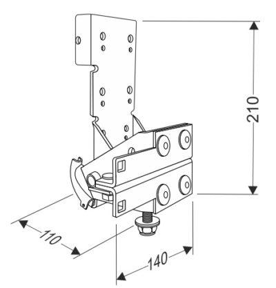 Устройство защиты от обрыва троса секционных ворот