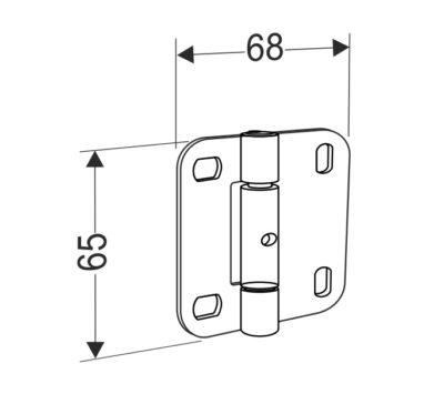 Внутренняя петля для панелей секционных ворот