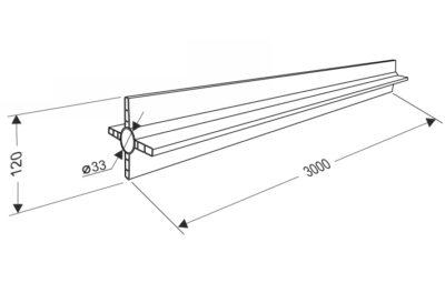 Вставка в пружину секционных ворот 152 мм.